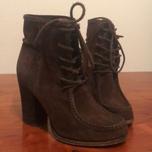Frye Heeled Suede Booties